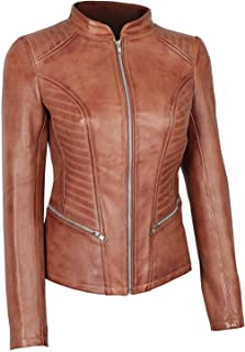 Womens Brown Leather Jacket - Genuine Motorcycle Leather Jackets