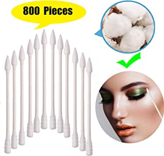 800 Pieces Cotton Swabs, Double Tipped Precision Tips Cotton Buds Spiral Head Multipurpose Safe Highly Absorbent Hygienic Cleaning Sterile Sticks (4 Packs, 200 Pcs, 1 Pack)