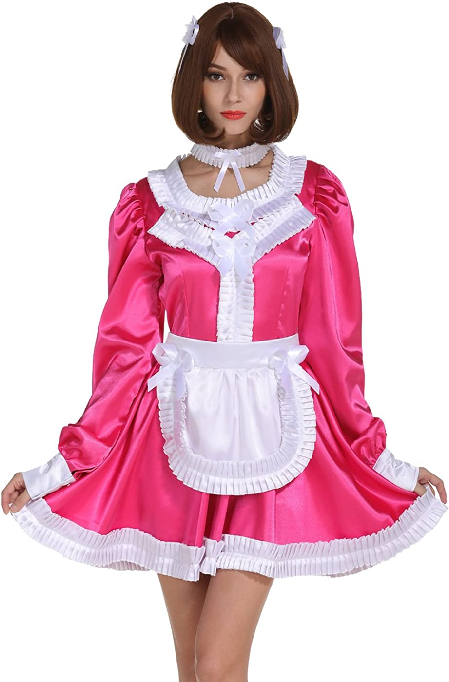 GOceBaby Reservation Sissy Girl Maid Lockable High quality new Frill Rose Dre Carmine Pleated