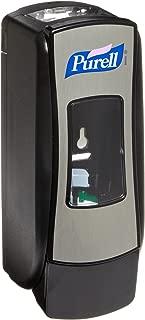 PURELL ADX-7 Push-Style Dispenser, Chrome/Black Finish, Dispenser for PURELL ADX-7 700 mL Sanitizer Refills – 8728-06