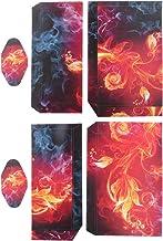 Fiore di Fiamma Adesivi Skin Protettiva Cover Per PS4 PlayStation 4 Set Console Controllore Decalcomania