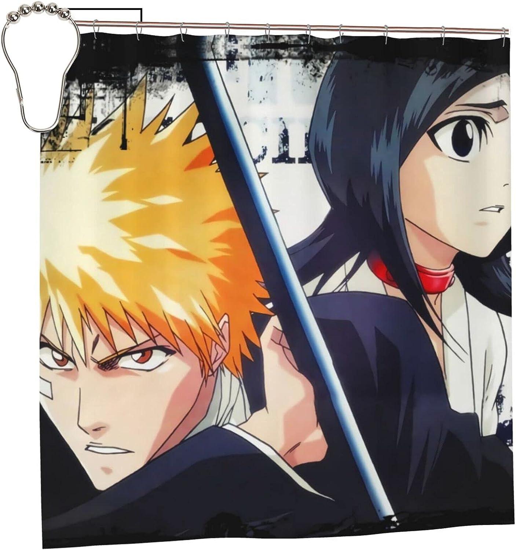 Bleach Ichigo Anime Bathroom Shower Curtain 72