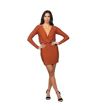 Bebe Lurex Deep V Dress