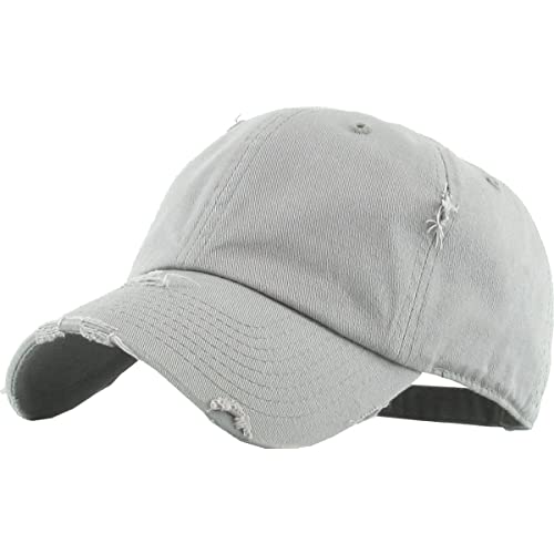 KBETHOS Vintage Washed Distressed Cotton Dad Hat Baseball Cap Adjustable Polo  Trucker Unisex Style Headwear 677ba658382e