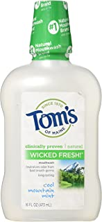 Tom's of Maine Long Lasting Wicked Fresh Mouthwash, Cool Mountain Mint - 16 oz - 2 pk
