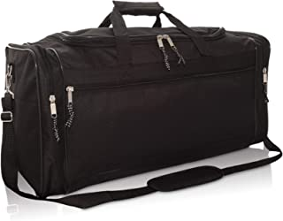 """DALIX 25"""" Extra Large Vacation Travel Duffle Bag in Black"""