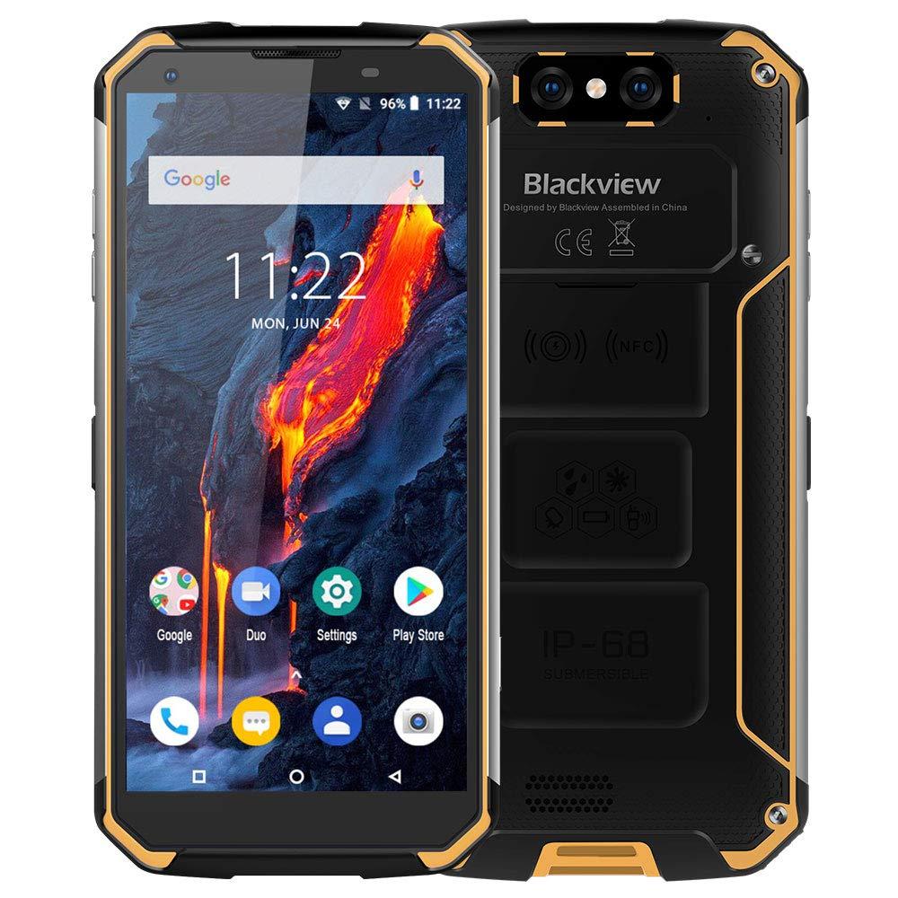 Blackview BV9500 Moviles Libre Resistentes, 10000mAh 5.7 Pulgadas FHD Pantalla Rugged Smartphone, 16+13MP Cámara, Android 8.1, Rugged Phone de 4+64GB, 4G Teléfonos IP68 / IP69K / NFC-Amarillo: Amazon.es: Electrónica