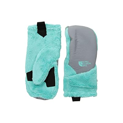 The North Face Kids Osito Etiptm Mitt (Big Kids) (Mint Blue/Mid Grey) Extreme Cold Weather Gloves