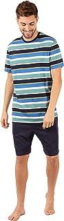 Marks & Spencer Men's Pure Cotton Striped Pyjama Set, MULTI