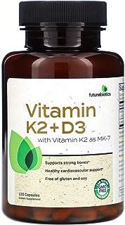 FutureBiotics Vitamin K2 D3 with Vitamin K2 as MK-7 120 Capsules