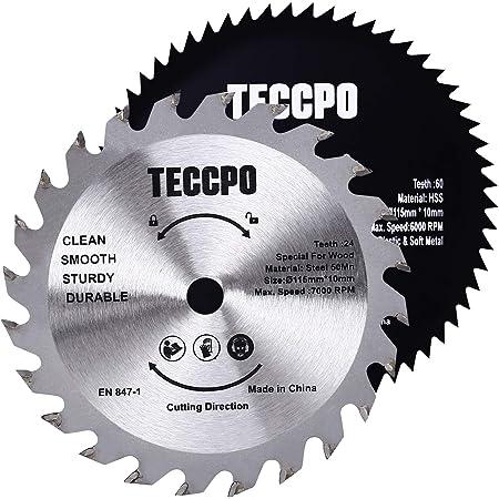 TECCPO 1x Lame de scie circulaire 185mmx20mm TCT TACB2 Bois coupés 40 Dents