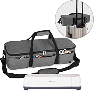 Luxja Foldable Bag Compatible with Cricut Explore Air and Maker, Carrying Bag Compatible with Cricut Explore Air and Supplies (Bag Only), Gray