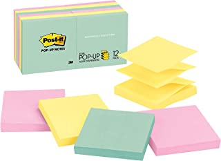 Post-it Pop-up Notes, 3x3 in, 12 Pads, America's #1 Favorite Sticky Notes, Marseille Collection, Pastel Colors (Pink, Min...