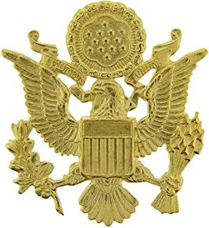 US Army Officer Cap Eagle Badge Insignia Gold 2-1/2