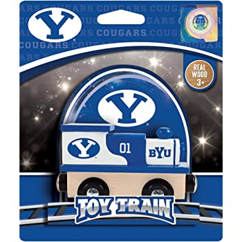 Amazon Com Masterpieces Ncaa Brigham Young Byu Cougars Real Wood Toy Train Engine For Ages 3 Toys Games
