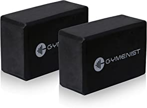 GYMENIST Yoga Blocks, High Density EVA Foam Block, Provides Support and Deepen Poses, Improves Strength,Balance and Flexibility, Ideal for Workout, Fitness & Gym