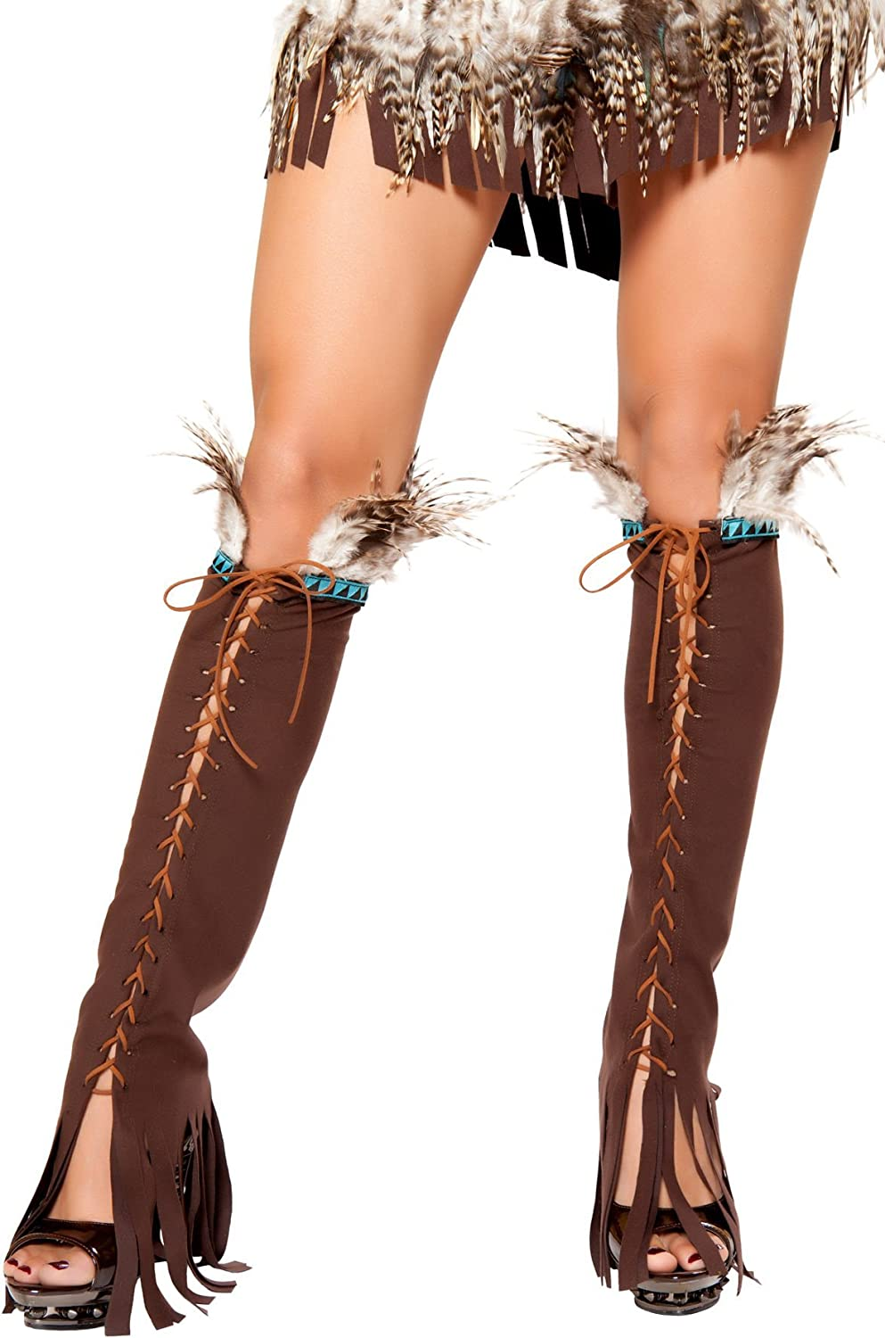 Surprise price Roma Costume Lace-up Suede Leg Legwarmers Colorado Springs Mall Warmers
