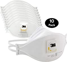 3M Aura Particulate Disposable Respirator 9211+ with Cool Flow Valve, N95, Smoke, Grinding, Sanding, Sawing, Sweeping, Woodworking, Dust, 10/Pack