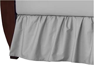 American Baby Company 100% Natural Cotton Percale Ruffled Crib Skirt, Gray, Soft Breathable, for Boys and Girls