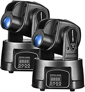 Eyourlife 15W LED Moving Head Light DMX 512 RGB Mini Moving Beams for DJ Party Disco