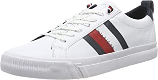 Tommy Hilfiger Flag Detail  Leather Sneaker Erkek Sneaker