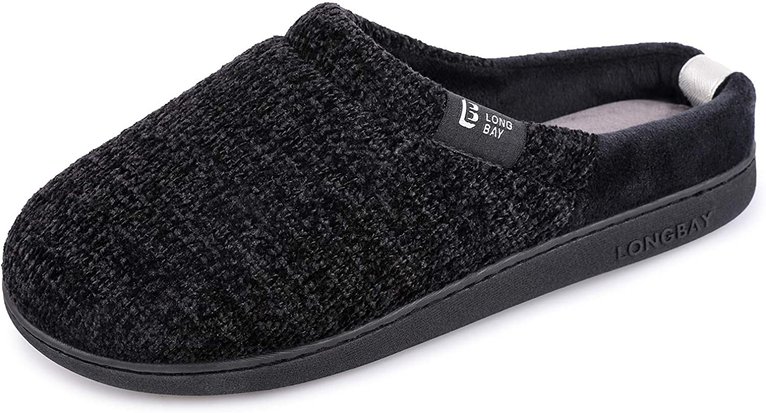 LongBay 2021 spring and summer new Women's Comfy Slip On U Ranking TOP19 Slippers with Cozy Chenille