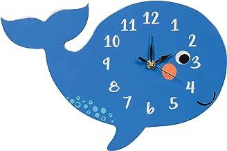 ساعة حائط تريند لاب، صامتة، تعمل بالبطارية، حوت