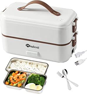 MIAINTL Electric Lunch Box Container - Food Heater Heatup For Adult Kids Lunch Warmer in Office/Home/Travel Rice Cooker Eg...