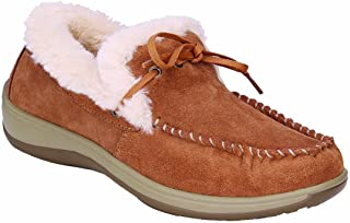 Orthofeet Pain Relief Plantar Fasciitis Arch Support Orthopedic Wide Diabetic Womens Leather Moccasins Capri