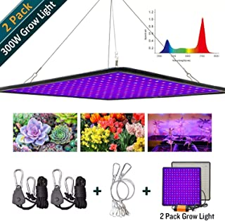 Greensindoor 300W LED Grow Light 2 Pack,Grow Lights for Indoor Plants Upgrade Full Spectrum for Veg and Flower (300W 2PACK)