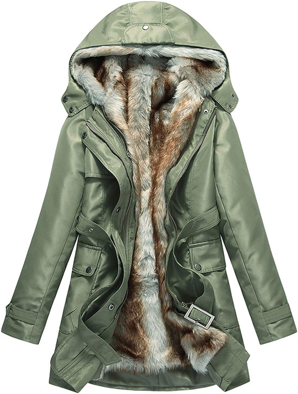 Dapengzhu Women Basic Jackets Winter Coats Faux Fur Woman Warm Parka Hood Coat Plus Size S3 XL Oversize 2 Pieces Sets WWM056