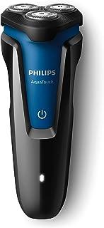 Philips S1030/04 - Barbeador Aquatouch, Preto/Azul