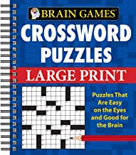 Brain Games - Crossword Puzzles - Large Print (Blue)