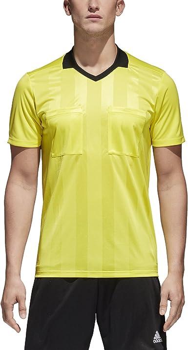 Amazon.com: adidas Referee 18 Jersey- Yellow : Sports & Outdoors