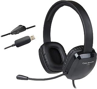 Cyber Acoustics AC-6012 Biauricular Diadema Negro auricular con micrófono - Auriculares con micrófono (PC/Juegos, 2.0 cana...