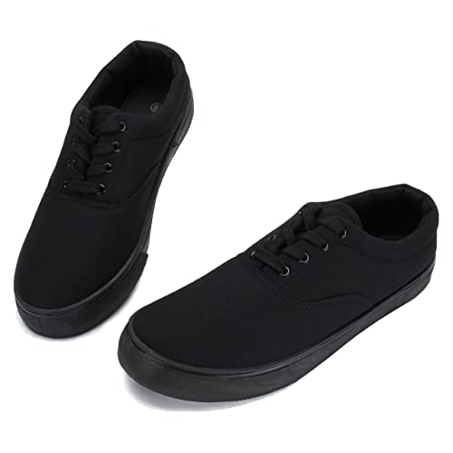 4751a602bf9cb1 PepStep Canvas Sneakers for Men/Black/White/Navy Mens Canvas Shoes Casual  Low