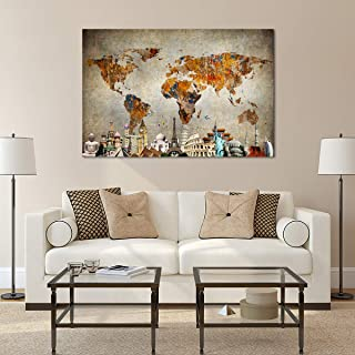 Best large canvas wall maps of the world Reviews