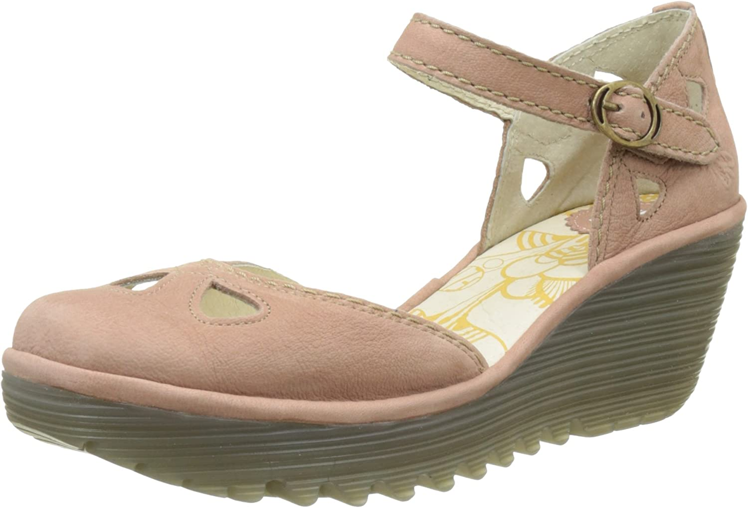 Fly London Womens Yuna Cupido Leather Sandals Summer shoes Wedge Heel