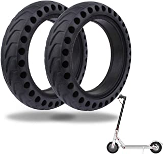 TOMALL Honeycomb Rubber Damping Solid Tire 8.5 Inch Front/Rear Tire Wheel Replacement for Xiaomi M365 Electric Scooter