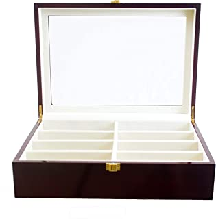 Luxury Eight-Compartment Sunglasses Organizer Jewelry Case. Ideal Anyone Multiple Pairs Specs. It Protects Your Eyewear is a Convenient Dresser Organizer Watch Box