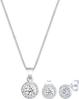Women Jewelry Set Swarovski® Crystals 925 Sterling Silver