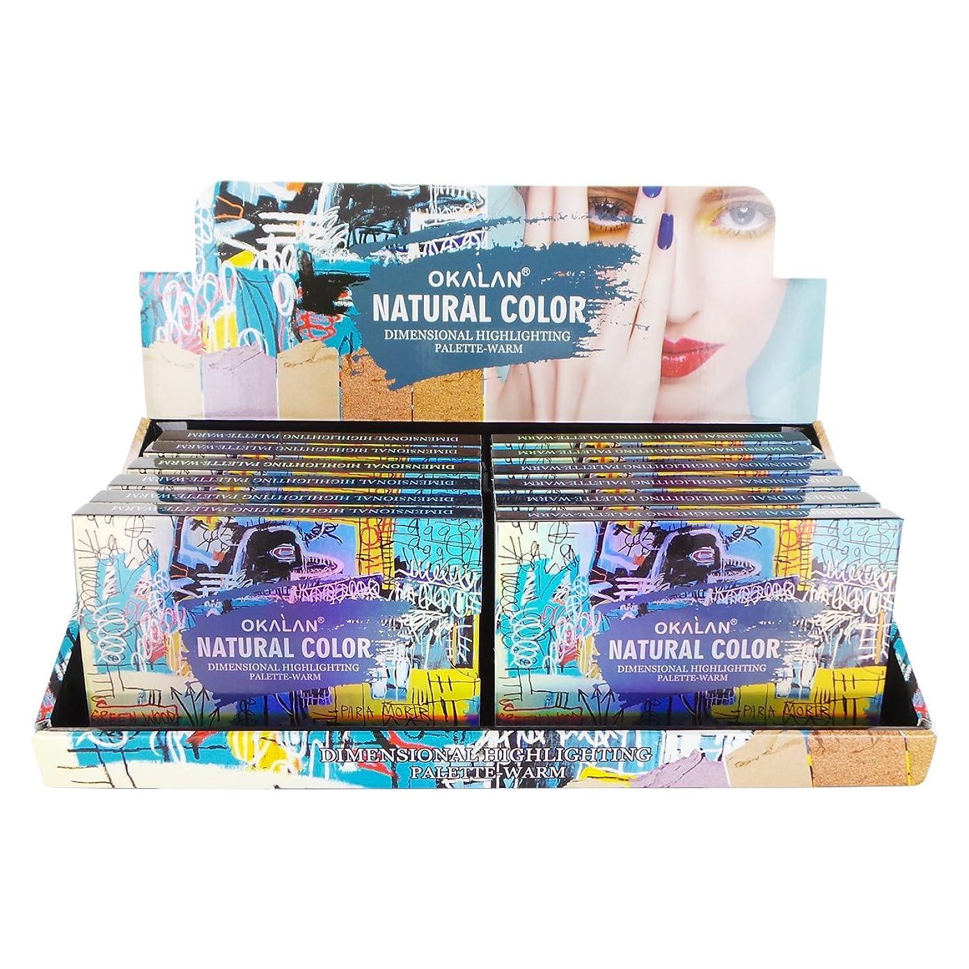 心臓土器公平なOKALAN Natural Color Dimensional Highlight Palette - Warm Display Set, 12 Pieces (並行輸入品)