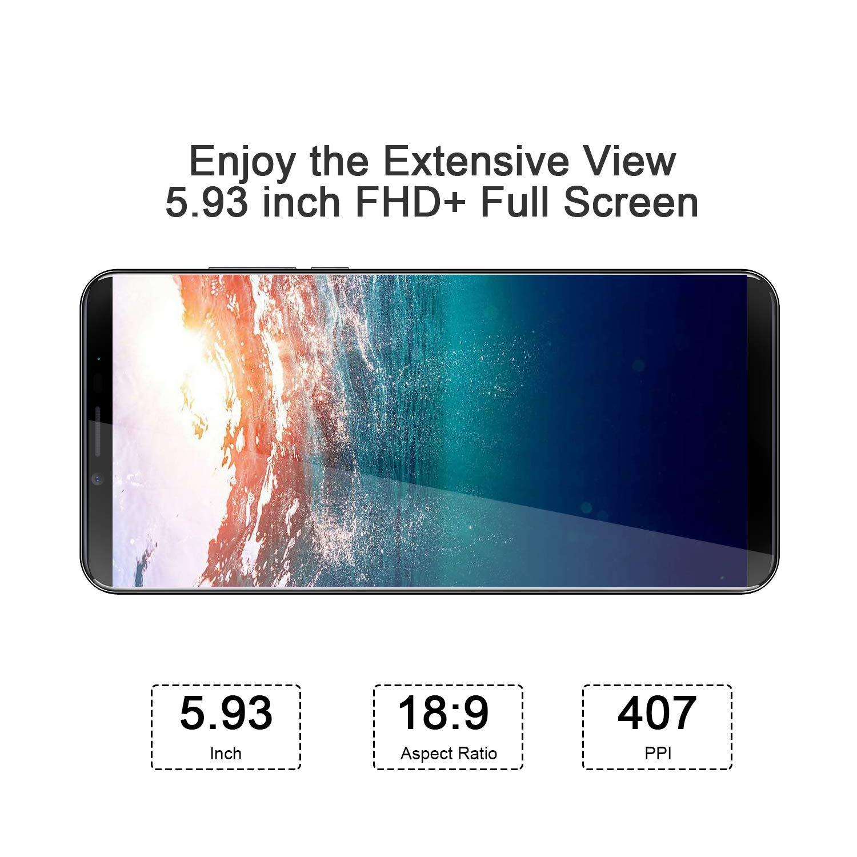 CUBOT X19S 4G Smartphone Libre Android 9.0 Teléfono móvil sin contactos 5,93 Pulgadas FHD+(2160x1080px) Dual Sim 32GB ROM 4GB RAM Dual Cámara Octa-Core Procesador WiFi GPS 4000mAh (Aurora): Amazon.es: Electrónica