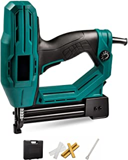 IQQI Electric Brad Nailer, Electric Nail Gun/Staple Gun Tool for Home Upholstery, Carpentry And Woodworking Projects