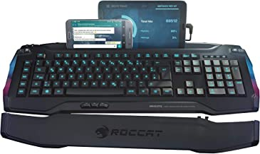 ROCCAT Skeltr - Smart Communication RGB Gaming Keyboard with Universal Device Docking Slot, Black