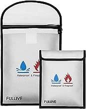 "Fireproof Document Bag – 15""X11"" Fireproof Safe Bag, 7""x9"".."