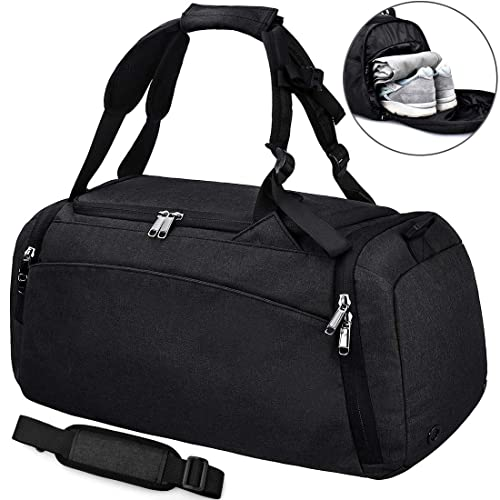 224fe3dd68be NEWHEY Sports Gym Duffel Bag with Shoe Compartment Waterproof Travel  Holdall Large Sports Bag for Men