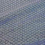Stoff Baumwollstoff Meterware Japan Wellen blau weiß