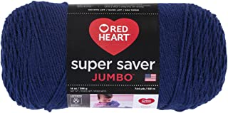 Red Heart Super Saver Jumbo Yarn, Soft Navy