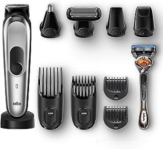 Braun All-in-one trimmer MGK7020, 10-in-1 trimmer, 8 attachments and Gillette Fusion5 ProGlide razor